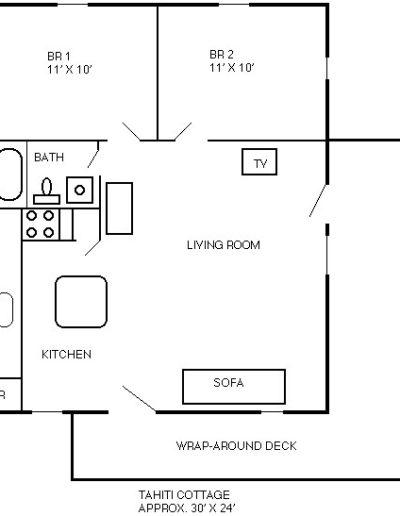 Tahiti floor plan